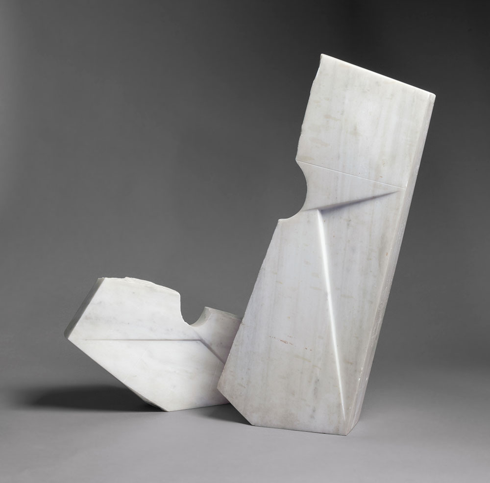 Space Elements, 1958, by Isamu Noguchi (American, 1904–1988). Greek marble.