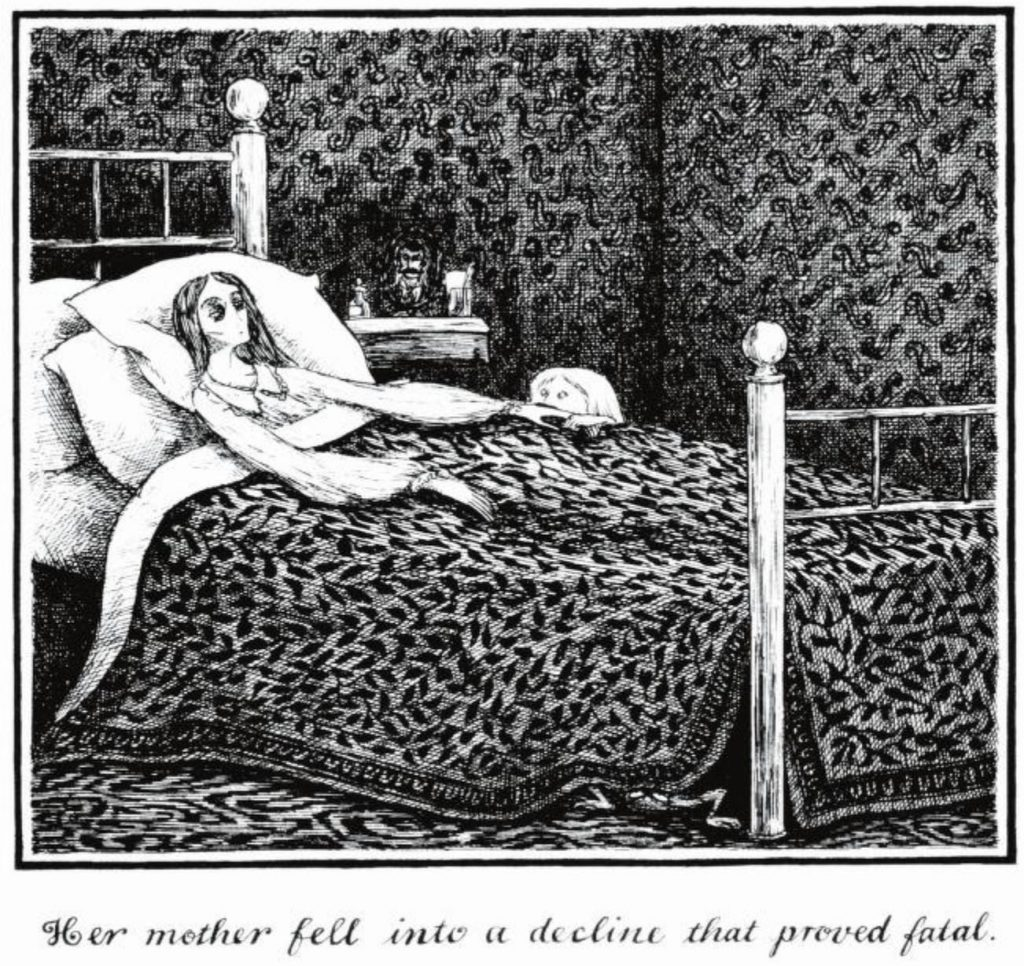 Edward Gorey Gothic illustrations